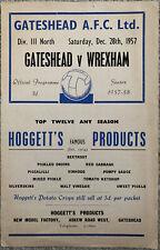 More details for gateshead v wrexham 1957/58