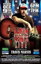 Aaron Lewis / Travis Marvin 2015 Endicott Concert Tour Poster-Staind, Alt Metal