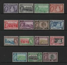MONTSERRAT 1953-58 QE2 FULL DEFINITIVE SET TO $4.80 (SG136/49) *MLH*