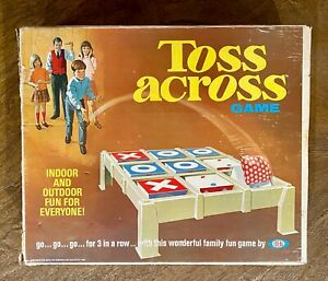 1969 Ideal Toss Across Game in Original Box / Instruction Sheet / Bean Bags Rare