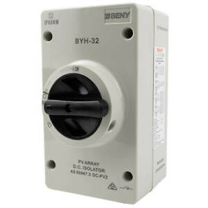 Solar Isolator, Suits DC - ZJ Beny - 1000V / 32A Rated, 4 Pole, IP66