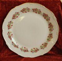 Porzellan großer Teller Sammelteller Blumenmotiv Goldrand Platte Ø 31 cm BA-5