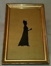 Antique Framed Baltimore Silhouette Cut Paper Full Body Dated 1825 Signed RJ.G.