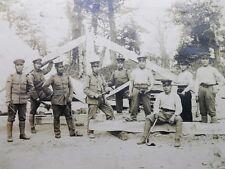 Soldats avc Outils Charpente PHOTOGRAPHIE ANCIENNE ARGENTIQUE JAPON 39X32cm 1921