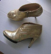 UNITED NUDE Ankle-Boots, Stiefelette, gold, Neu mit Karton, Gr. 37