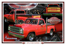 1979 Dodge Adventurer Lil Red Express Truck Poster Print