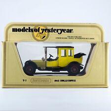 Matchbox Yesteryear 1912 Rolls Royce Yellow Y-7-3 Lesney England 1979 Mint
