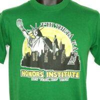 Phi Theta Kappa Honors Institute T Shirt Vintage 80s New York Made In USA Medium