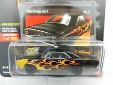 2017 Johnny Lightning *STREET FREAKS 2A* Black w/Flames 1969 Dodge Dart *NIP*