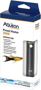 Brand New Aqueon 100106254 Preset fish tank Heater Black, 200W Free Shipping