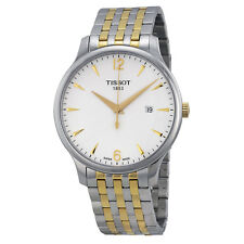 Tissot T-Classic Tradition White Dial Two-tone Mens Watch T0636102203700-AU