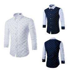 Fashion Men's Luxury Casual Slim Fit Stylish Formal Dress Shirts Long Sleeve New