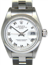 Rolex Date Stainless Steel White Roman Dial Ladies 26mm Watch 79160