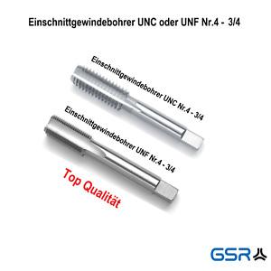 GSR Handgewindebohrer UNC UNF Gewindeschneider Gewindebohrer Nr. 4 bis 3/4 Zoll