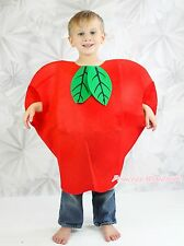 Halloween Party Red Big Apple Whole One Piece Kids Unisex Fruit Costume Outfit