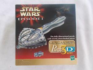 MB Star Wars Episode I Gungan Sub 3-D Puzzle 66 Pieces 1999 Unopened Box