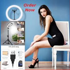 Cámara de video luz LED de Anillo de Soporte para Selfie Teléfono Trípode de en vivo 10 Maquillaje Kit de flujo