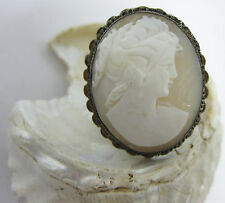 Brooch Charm Vintage Real Cameo