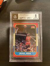1986 Fleer Michael Jordan Rookie Card #57 BGS 8 NM (9, 9, 8.5, 7.5) Subgrades