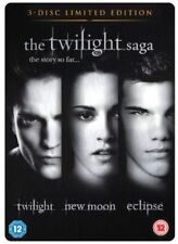 THE TWILIGHT SAGA STEEL BOOK TWILIGHT NEW MOON ECLIPSE 3 DISC BOX SET DVD L NEW