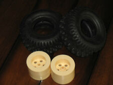 AJ's AJs TwinnK Twinn-K 9756 Tire Wheel Rim Set Tamiya Blackfoot Black Foot RC