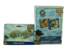 Toy Story Kid Arm Floats Pool Fun Safety 1 Pair Swim Floats and Swim Goggles Set