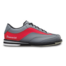 Brunswick Rampage Grey/Red Men's Left Handed Bowling Shoes