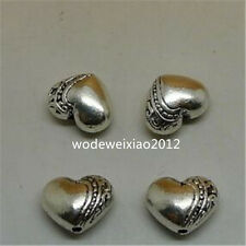 20pc Tibetan Silver Charm heart Spacer Beads Jewellery Making  JP1000