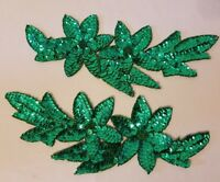 288 pcs Darice Small Artificial Green Plastic Flower Blossom Calyx Base Leaves Vintage Floral Crafts