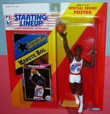 1992 MANUTE BOL Philadelphia 76ers Rookie -low s/h sole Starting Lineup Kenya NM