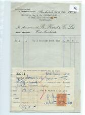 EPHEMERA -073- SMALL- R HURST, WINE MERCHANTS - ROCHDALE - STATEMENT - JUN 1948