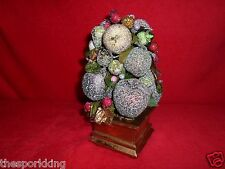 Avon Holiday Splendor Topiary made from Beaded Fruit 2002 Collectible