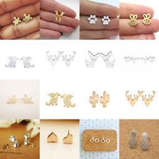 Cute Ear stud Jewelry Gifts Fashion Womens Girl 925 Silver Earrings