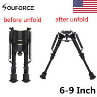 "US 6"" - 9"" Adjustable Metal Harris Style Bipod Sling Swivel For Rifle Hunting"