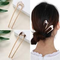 Hair Care Vintage Metallic U Shape Hair Clip Metal Hair Stick Hairpin  alloy