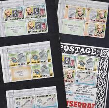 Montserrat 1979 Mint MNH Full Set Minisheet Opt SPECIMEN Penny Post Blocks Label