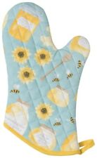 NOW DESIGNS Oven Mitt Honey Bee NWT 100% Cotton Yellow Blue