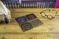 Harry Potter Premium Untersetzer 4er Set Hogwarts Wappen - Kork 9x9 cm NEU OVP