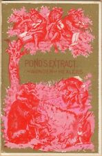 Victorian Trade Card-Pond's Extract-NYC-Patent Medicine-Anthropomorphic Animals