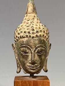 Fine Thai Thailand Sukhothai Period Bronze Head of the Buddha ca. 18-19th c.