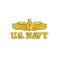 US NAVY Surface Warfare Officer insignia EMBROIDERED POLO SHIRT