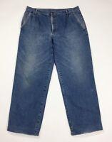 Ritt jeans uomo invernali usato W40 tg 54 felpati imbottito boyfriend T4607