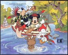 Lesotho 1992 Disney/Canoe/Mickey Mouse/Cartoon/Animation 1v m/s (b585)