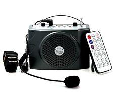 Teacher Voice Booster 25W PA Amplifier Loud speaker FM Wireless Mic RC USB Guide