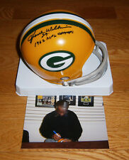 1962 PACKERS Howie Williams signed mini helmet w/ 1962 Champs AUTO Autographed