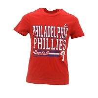 Philadelphia Phillies Official MLB Majestic Kids Youth Girls Size T-Shirt New