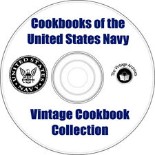 Cookbooks of the US Navy - 3 Vintage Cookbooks on CD