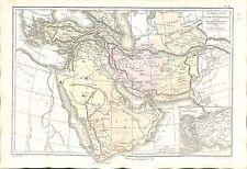 Western Asia Asie de l'Ouest Politique Persia Iran Anatolia MAP CARTE ATLAS 1874