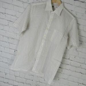 Vintage PIERRE BALMAIN Paris Casual Tee Shirt Button Up Plaids /& Checks Striped