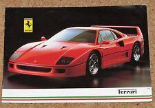1987 FERRARI Sales Brochure - F40, Testarossa, 412, Mondial & Cabrio 328 GTB GTS